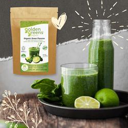 golden greens organic green passion powder