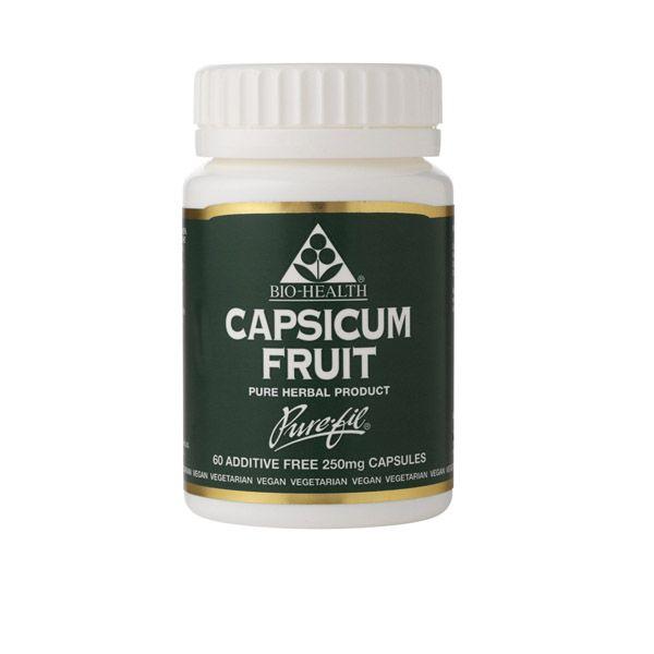 Bio-health Capsicum Fruit 250mg 60 Vegetarian Capsules