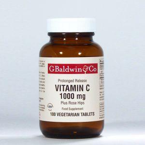 Baldwins Vitamin C 1000mg Plus Rosehips