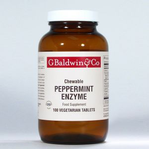 Baldwins Chewable Peppermint Enzymes 100 Vegetable Tablets