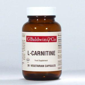 Baldwins L-carnitine 500mg 30 Vegetarian Capsules