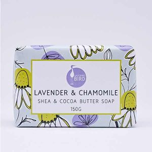 Laughing Bird Lavender & Camomile Soap with Shea and Cocoa Butter 150g