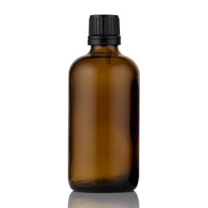Alpha Amber Glass Bottles With Plain Screw Cap 100ml