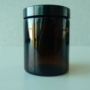 Wide Mouth Jar Amber 180ml