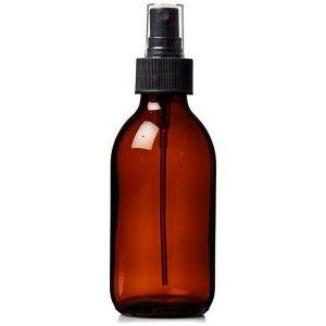 Plastic Amber (PET) Bottles 150ml with Spray Atomiser