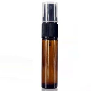 Baldwins Amber Glass Rollette Bottles With Spray Atomiser Cap 10ml