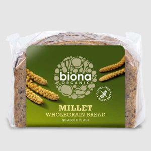 Biona Organic Gluten Yeast and Wheat Free Wholegrain Millet Bread 250g