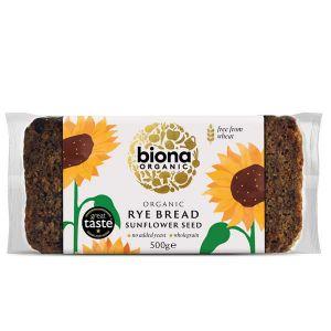 Biona Organic Sunflower Seed Rye Bread 500g