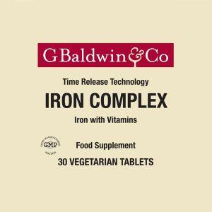Baldwins Iron Complex 29mg (prolonged Release) 30 Vegetarian Tablets