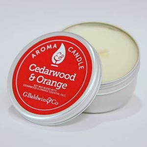 Baldwins Cedarwood And Orange Aroma Candle 105g