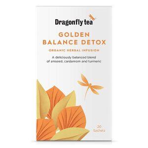 Dragonfly Tea Organic Golden Balance Detox Tea 20 sachets