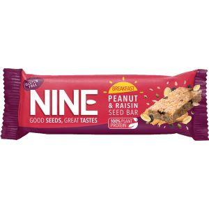 Nine Peanut and Raisin Seed Bar 50g
