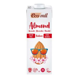 Ecomil Organic Almond Milk 1 Litre No Added Sugar