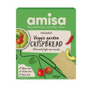 Amisa Organic Gluten Free Veggie Garden Crispbread 100g