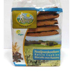 Billy's Farm Organic Vegan Raisin Cookies 240g