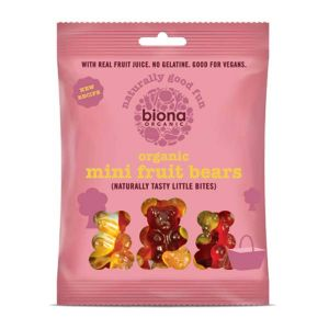 Biona Organic Mini Fruit Bears Naturally Tasty Fruit gums 75g