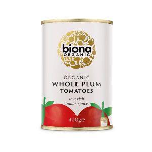 Biona Organic Canned Whole (peeled) Plum Tomatoes 400g