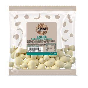 Biona Organic Yoghurt White Chocolate Raisins 60g
