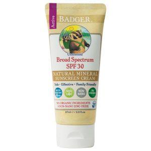 Badger Unscented Broad Spectrum SPF 30 Sunscreen Cream 87ml