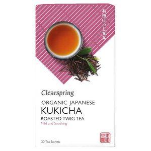 Clearspring Organic Kukicha Japanese Roasted Twig Tea 20 Teabags