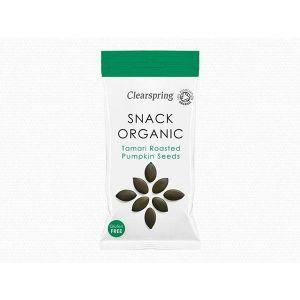 ClearSpring - Organic Snack Tamari Roasted Pumpkin Seeds 30g