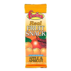 Frutina Dried Real Fruit Snack Apple & Apricot 15g