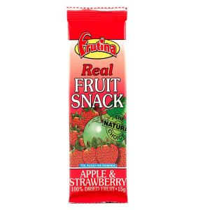 Frutina Dried Real Fruit Snack Apple & Strawberry 15g