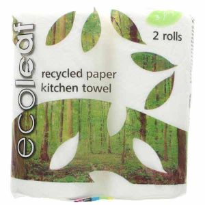 Ecoleaf 3 Ply Kitchen Towel Twin Pack