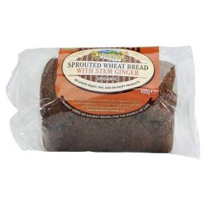 Everfresh Organic Sprouted Wheat Bread with Stem Ginger 400g