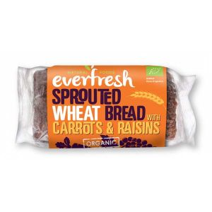 Everfresh Organic Sprouted Wheat bread with Carrots & Raisins 400g