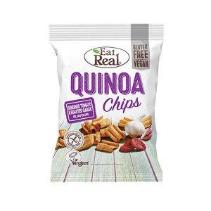 Eat Real Qiunoa Chips Sundried Tomato and Roasted Garlic 30g