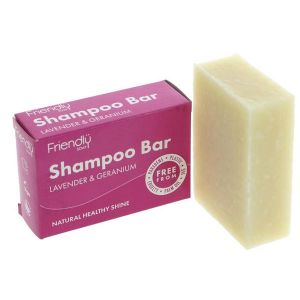 Friendly Soap Ltd. Natural Lavender and Geranium Shampoo Bar 95g