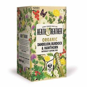 Heath And Heather Organic Dandelion Burdock and Hawthorn 20 Tea bags