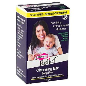 Hopes Relief Cleansing Soap Free Bar 110g