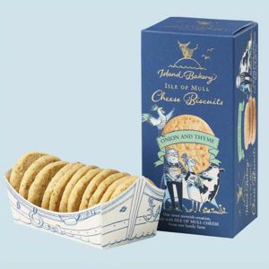 Island Bakery Isle of Mull Cheese Biscuits with Onion and Thyme 100g