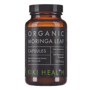 Kiki Health Organic Moringa Leaf 500mg 120 Vegetarian Capsules