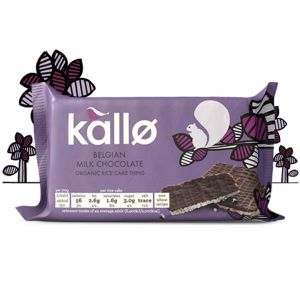 Kallo Belgian Milk Chocolate Rice Cake Thins 90g