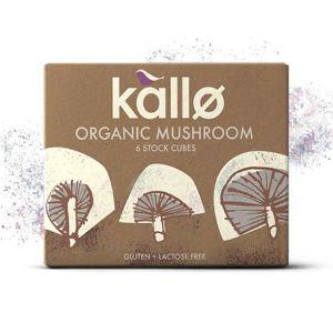 Kallo - Organic Mushroom 6 Stock Cubes 66g