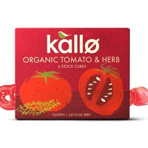 Kallo - Organic Tomato & Herb 6 Stock Cubes 66g