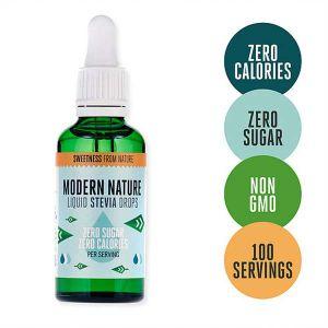 Modern Nature Stevia Drops Sweetener 50ml
