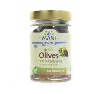 Mani Organic Greek Green & Kalamata Olives 175g