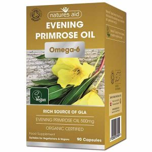 Natures Aid Organic Evening Primrose Oil and Omega-6 500mg 90 capsules