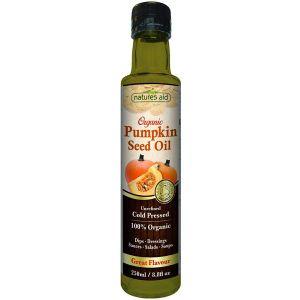 Natures Aid Organic Pumpkin Seed Oil 250ml