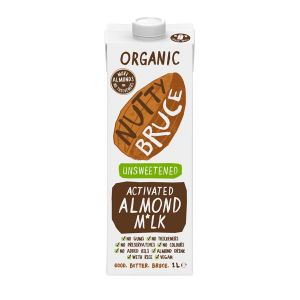 Nutty Bruce Unsweetened Organic Activated Almond Milk 1 Litre
