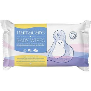 Natracare - Baby Wipes with organic Chamoile, Apricot and Sweet Almond oil 50 wipes