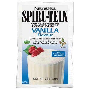 Natures Plus Spiru-Tein High Protein Energy Food Supplement Vanilla 34g