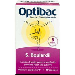 Optibac Saccharomyces Boulardii 40 Vegan Capsules