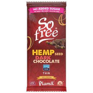 Plamil Foods - So Free Hemp Seed Dark Chocolate Thin 70g