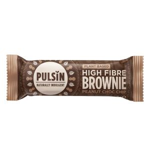 Pulsin Raw High Fibre Brownie Peanut Choc Chip 35g