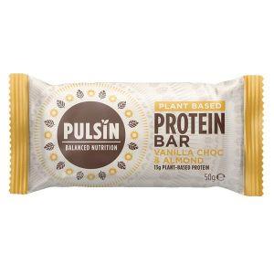 Pulsin Raw Protein Bar Vanilla Choc Chip 50g